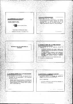 A publicidade en internet  - Curso de especialización en Dereito da Publicidade
